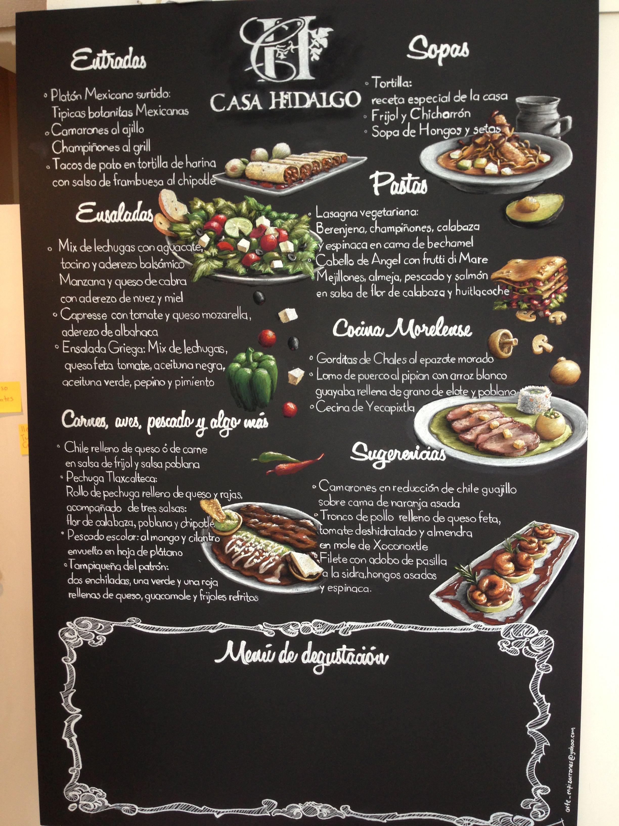 Arte en pizarrones pizarron mexico df gourmet casa for Casa moderna restaurante salta