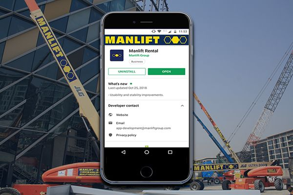 Manlift's Mobile Rental App Is Now Live on App Store