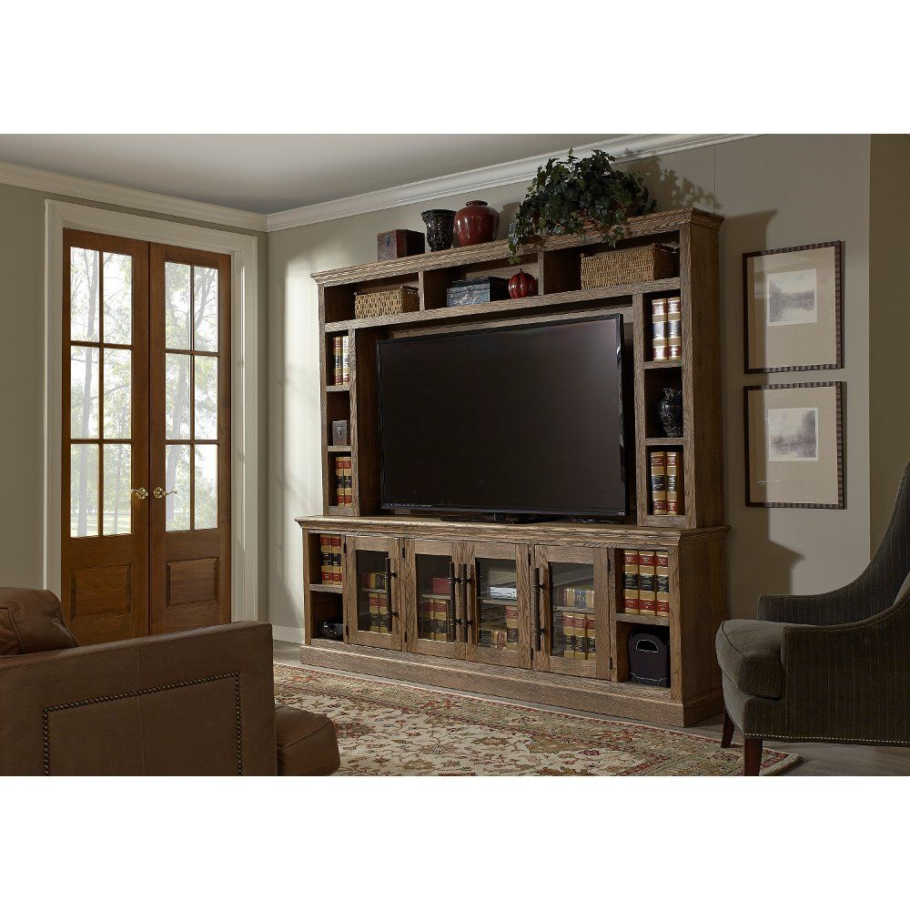Natural Brown 2 Piece Classic Entertainment Center Barnhouse