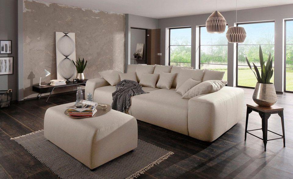 Home affaire Big-Sofa »Sundance« mit vielen Kissen, Breite 302 cm - big sofa oder wohnlandschaft