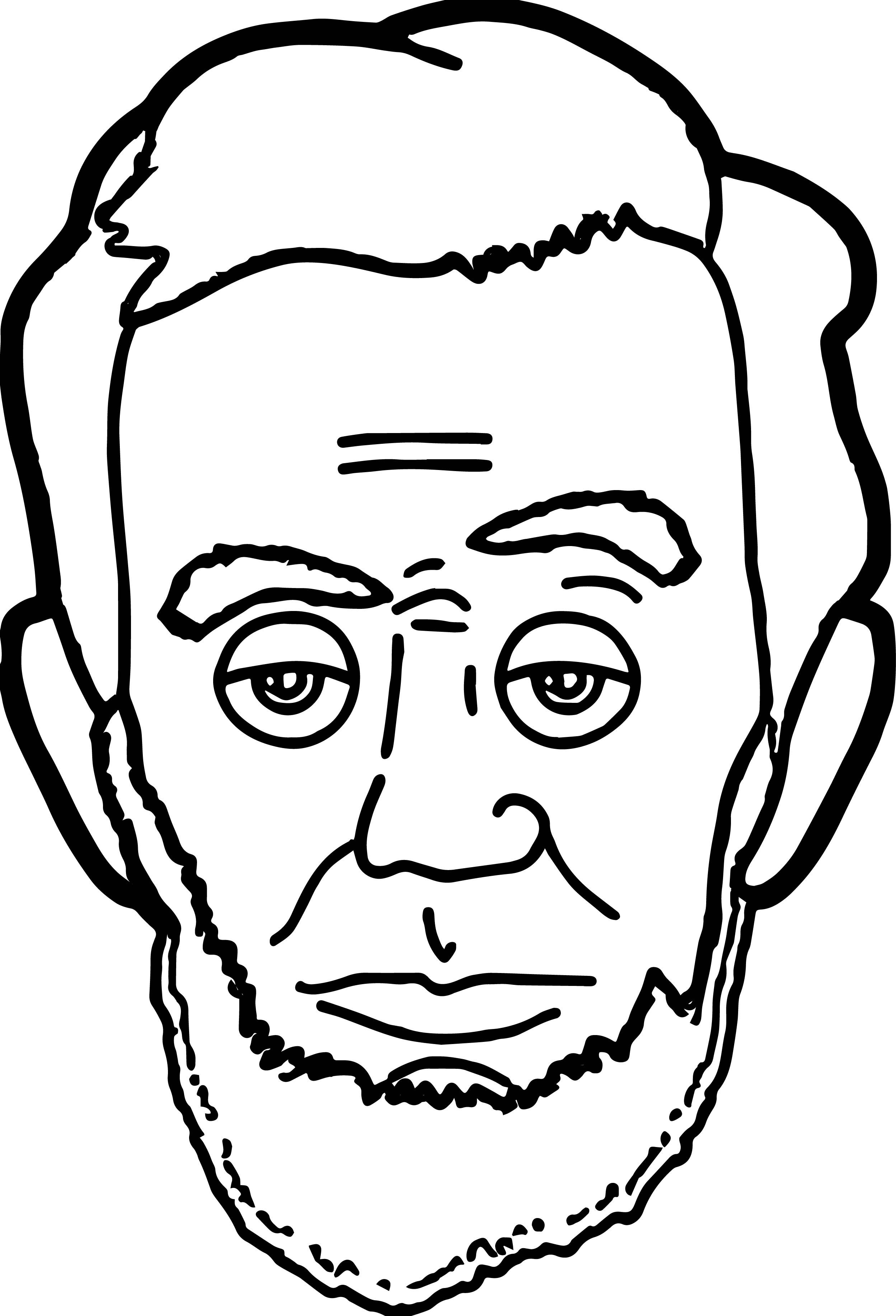 Nice Abraham Lincoln President Face Coloring Page Transformers Coloring Pages Cartoon Coloring Pages Monster Coloring Pages