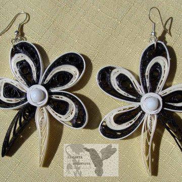 orecchini, earrings orchidea bn1