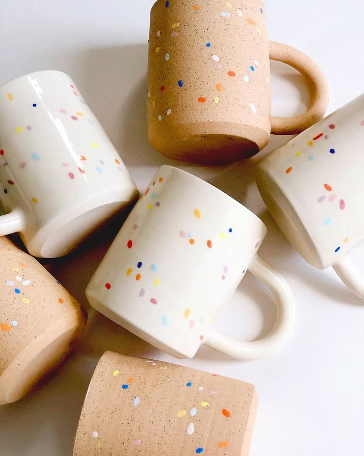 "O-M OBJECT-MATTER CERAMIC on Instagram: ""️Little sunshine️ Sprinkles on white & on speckles #mugs"""