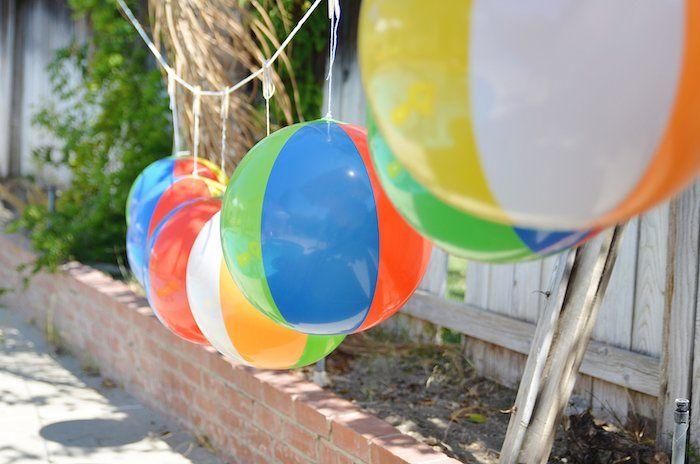 Beach Ball Themed Birthday Party Via Kara's Party Ideas