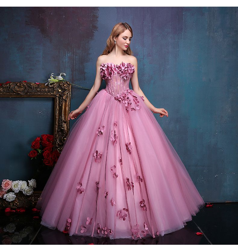 100 real flower fairy beading floral vine ball gown for Fairytale ball gown wedding dresses