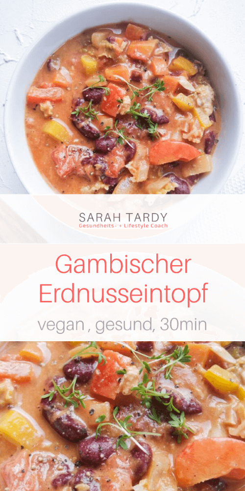 Gambischer Erdnusseinopf – Rudi&GesundeRezepte – Carey&CleanEatingS