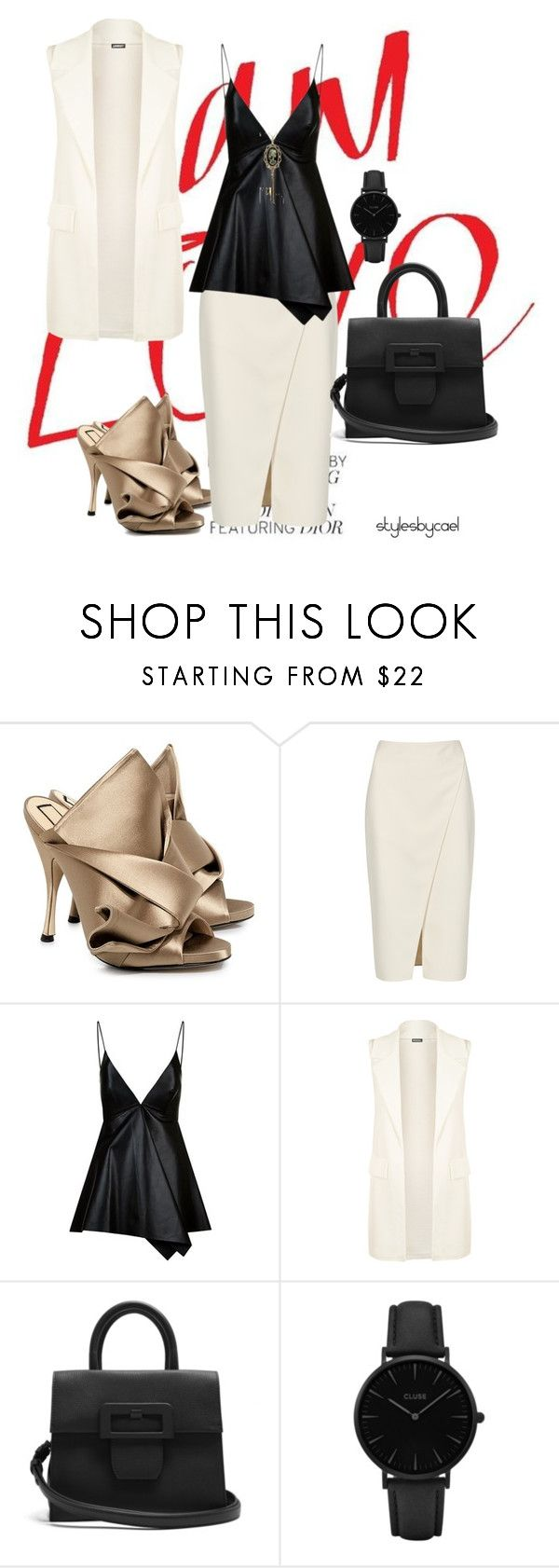 """""""#stylesbycael"""" by stylesbycael ❤ liked on Polyvore featuring N°21, Acne Studios, Valentino, WearAll, Maison Margiela and CLUSE"""