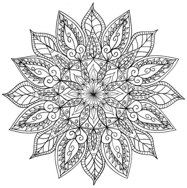 Line Drawing Mandala : Icolor quot mandalas adult coloring pinterest beautiful