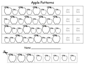 Apple Math - Patterns | Math patterns, Math sheets, Apple theme