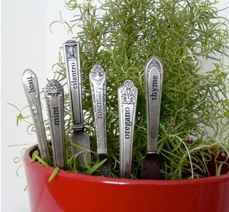 Herb Plant Stakes  #garden #herbs