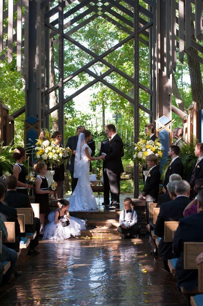 Thorncrown Chapel Wedding Ceremony