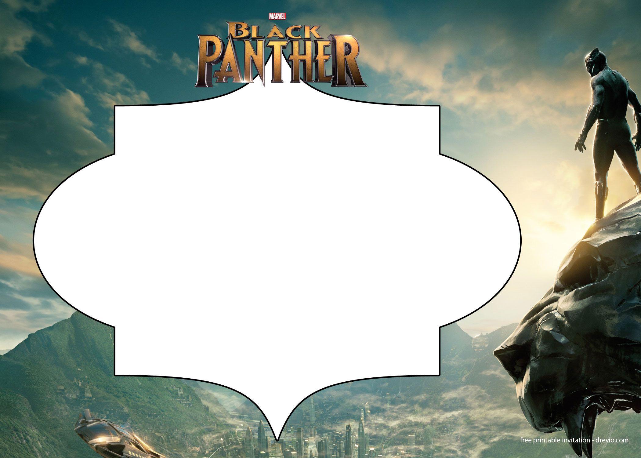 FREE Printable Black Panther Invitation Templates | Free Printable ...
