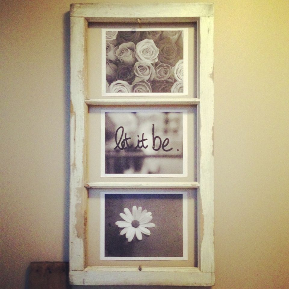 Old window   Home--Window Frame Ideas   Pinterest   Vinil y Marcos