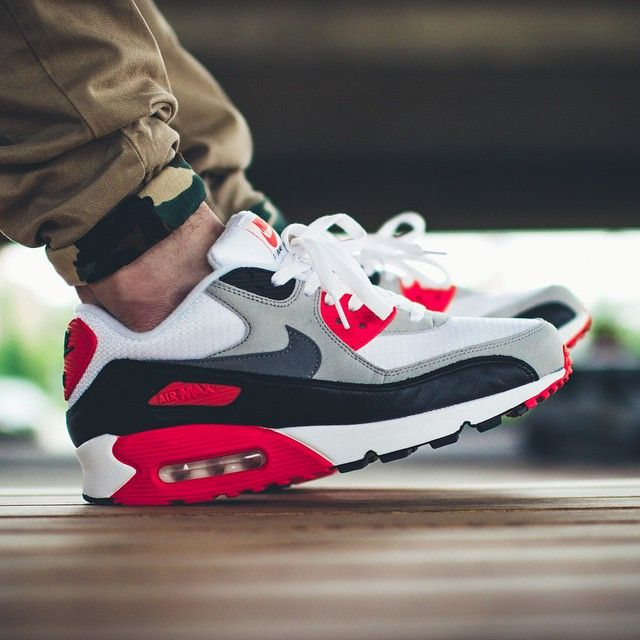 Nike Air Max 90 Infrared (by appie.tv) | Sneakers | Pinterest | Air max 90, Air  max and Nike air max infrared