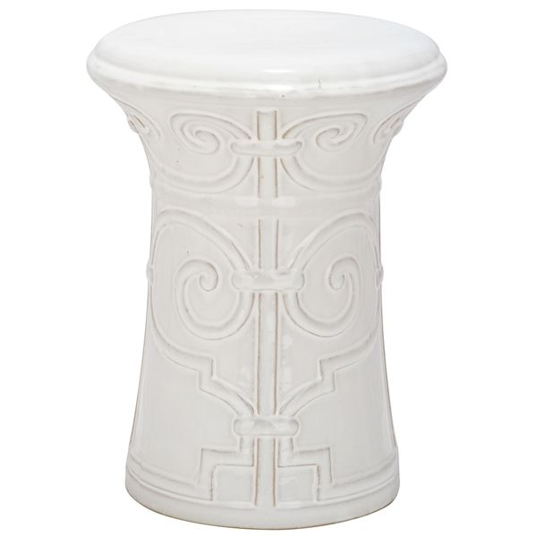 Safavieh Paradise Zoe White Ceramic Garden Stool - Overstock™ Shopping - Great Deals on Safavieh Garden Accents