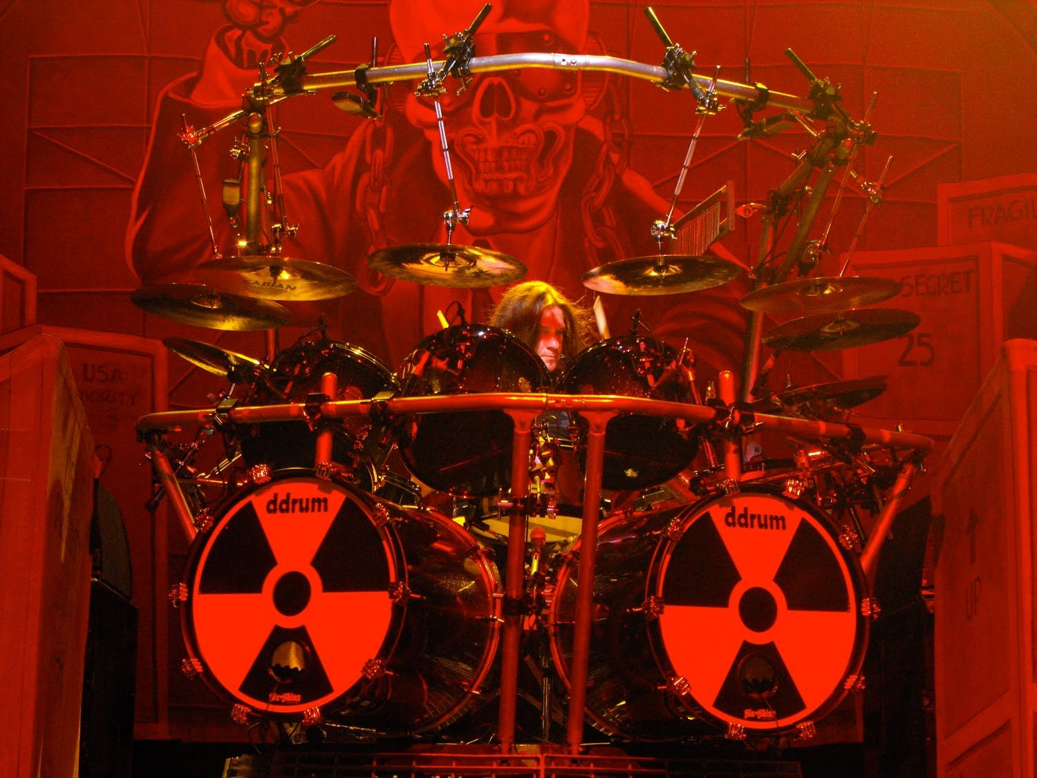 shawn drover megadeth with our drum heads customer wraps in 2019 drum kits drums drum. Black Bedroom Furniture Sets. Home Design Ideas
