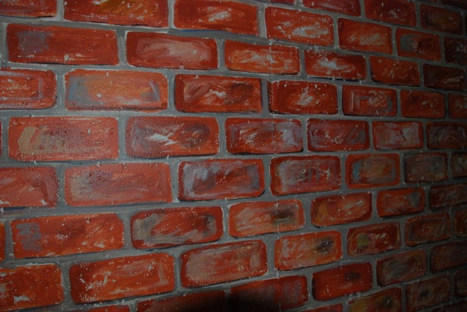 Design ideas alluring wall design for e terior and - Interior cinder block wall ideas ...
