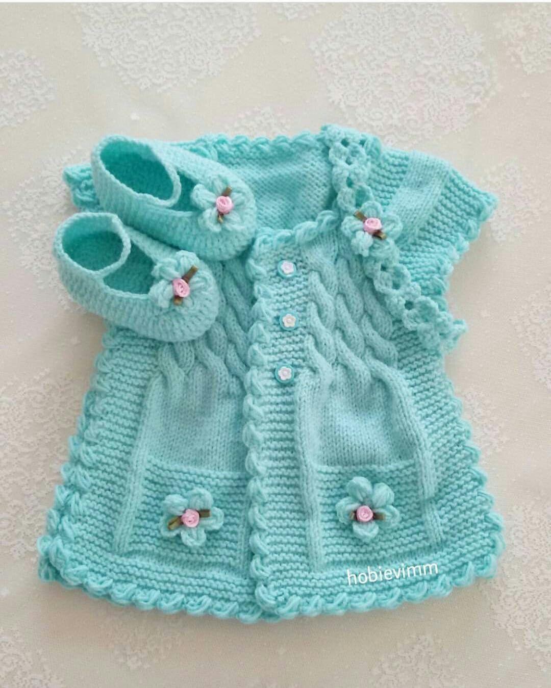 Hermoso chaleco de bebe color | <br/> Of | Vestidos | Pinterest ...