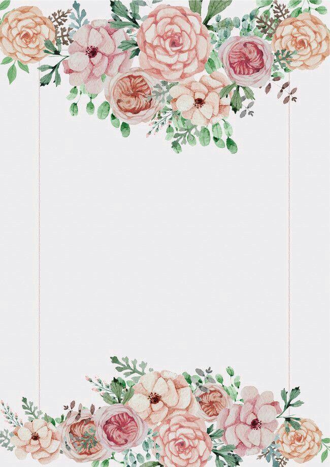 Wallpaper Cute Pink For Iphone 6 Convite Casamento Molde Cesto De Flores De 2018