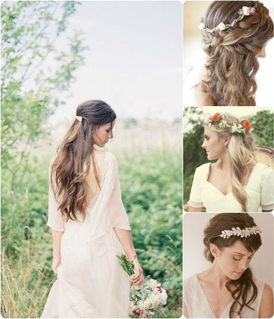 Ideas For Beautiful And Romantic Wedding Hairstyles With Flowers - Wedding hairstyle romantic with flowers
