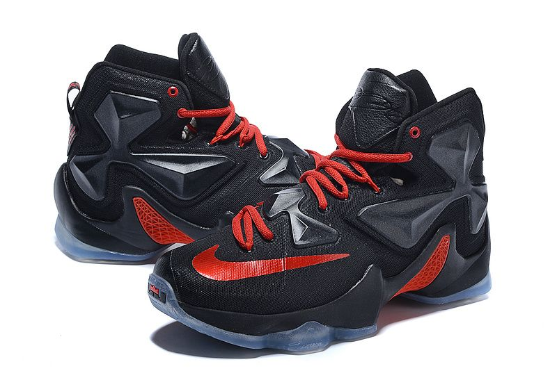 differently 27a4d 7963f 2016-2017 Sale Lebron 13 XIII Black University Red Away New Arrival 2016    Basketball Sneakers 2016   Pinterest   Nike lebron, Shoes and Black shoes