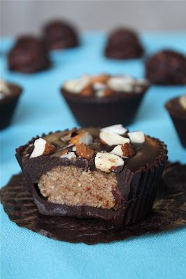 Raw vegan almond butter cups and other healthy candies