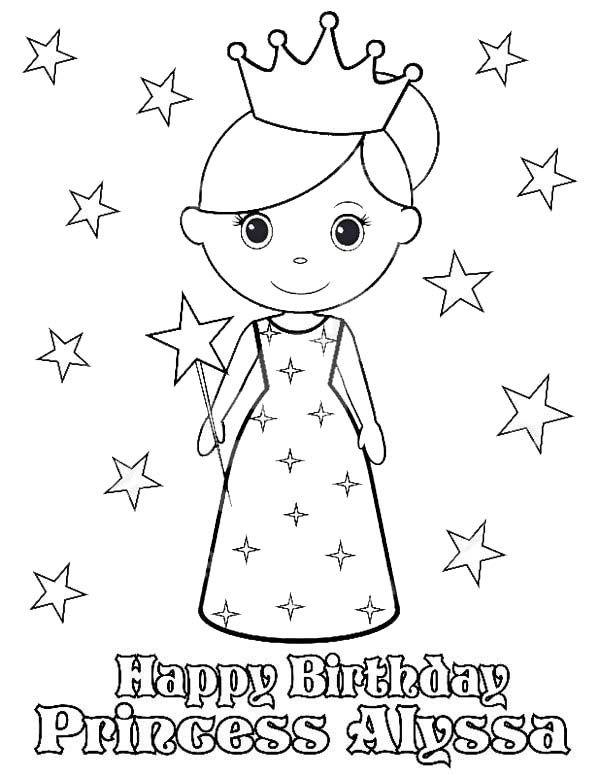 Princesses Birthday Happy Birthday Princess Alyssa In Princesses Birthday Coloring Pages Happy Birthday Princess Alyssa Coloriage Creations Comment Dessiner