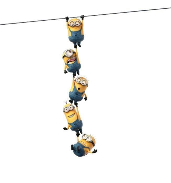 Minions hanging on | Minions | Pinterest | Humor