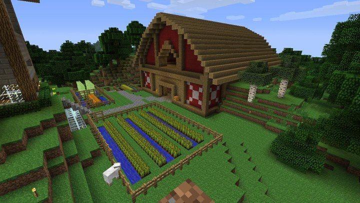 Cool barn idea | Minecraft farm, Minecraft stables ...