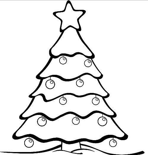 schöner weihnachtsbaum malvorlage | weihnachtsbaum vorlage