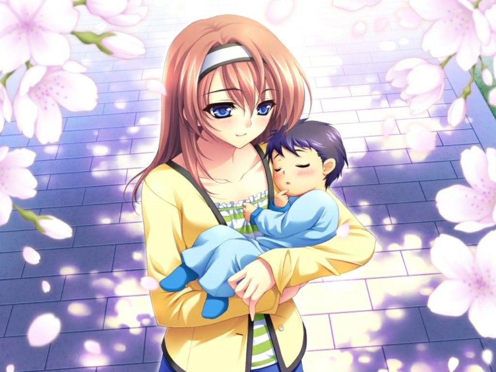 Днем рождения, картинки мамы с сыном аниме