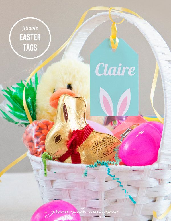 Easter basket name tags easter gift tag editable fillable pdf easter basket name tags easter gift tag editable fillable pdf personalized easter baskets favors treats digital printables gift tags negle Image collections