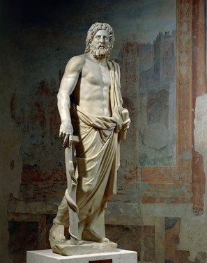 2nd century A.D. Marble statue of Asclepius.