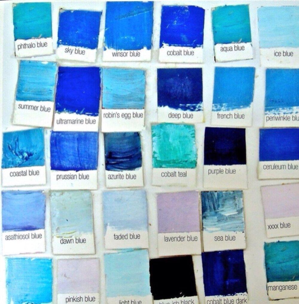Le Bleu, armonia de monocroma, gama de color | Prussian BLUE ...
