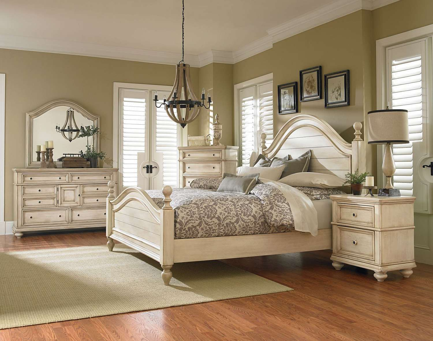 white queen bedroom sets. Chateau 5 Piece Queen Bedroom Set - FFO Home White Sets T