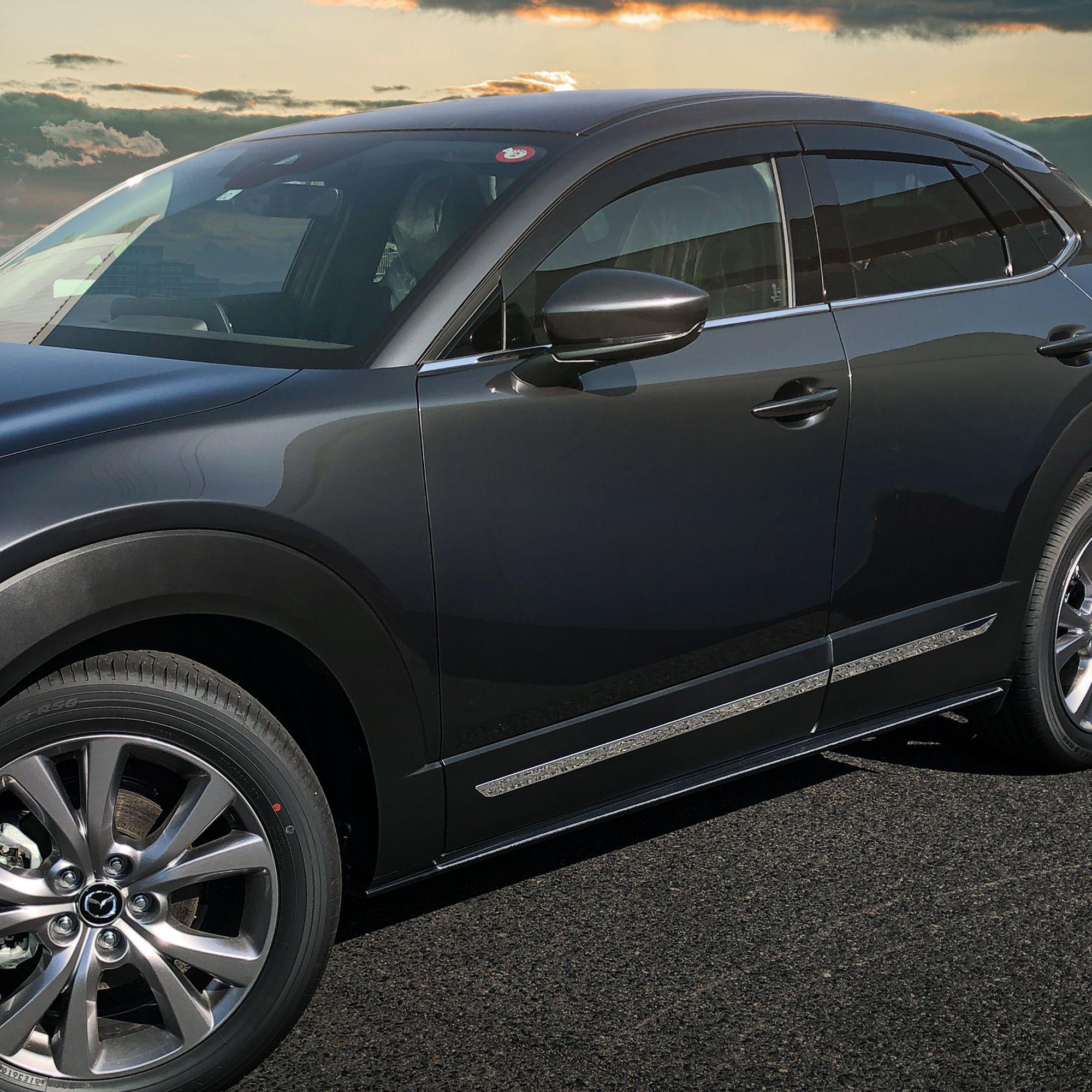 マツダ Cx 30 サイドリップ サイドガーニッシュ 鏡面仕上げ 外装パーツ 2点セット Mazda Cx30 Dm8p Dmep カスタム ドレスアップ マツダ エアロ 鏡面仕上げ
