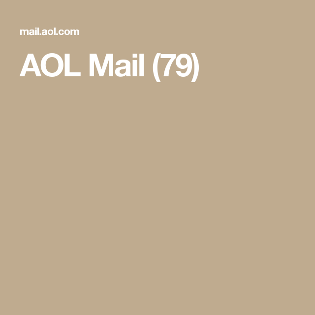 Aol Mail 79 Aol Mail Email Client