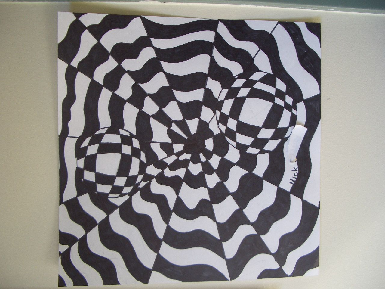 Op art uses color to create - Middle School Art Lessons Dream Draw Create Art Lessons For Children Op Art By