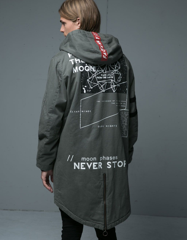 Campera abrigo larga hombre