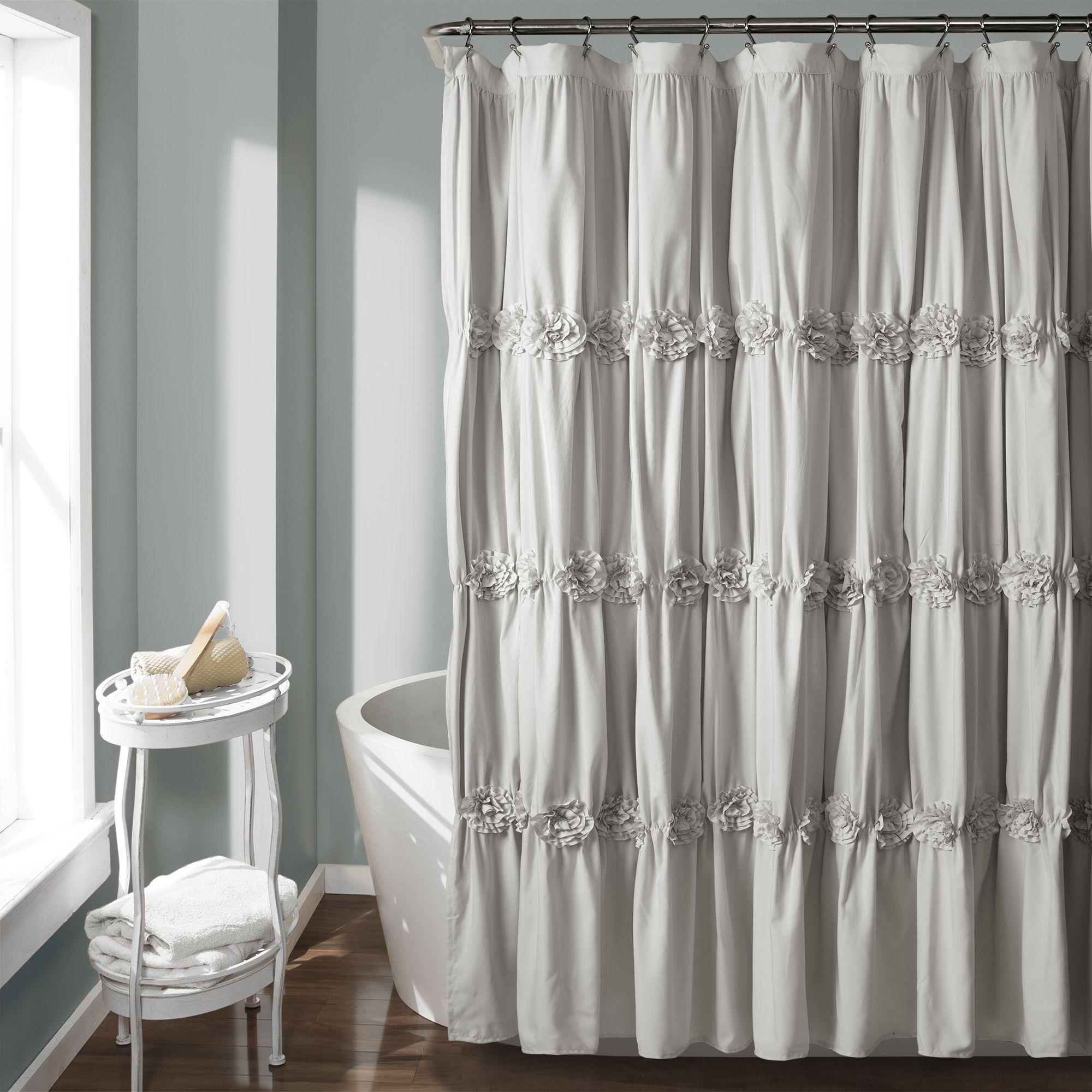 Darla Shower Curtain Fabric Shower Curtains Ruffle Shower