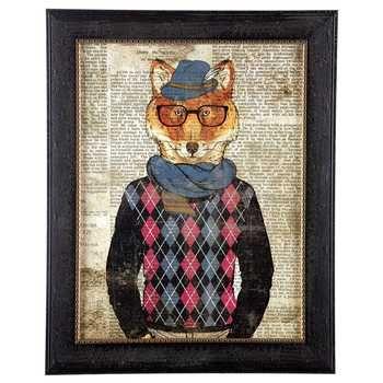 Fox Wall Art hipster fox framed wall art | framed wall art, walls and farmhouse