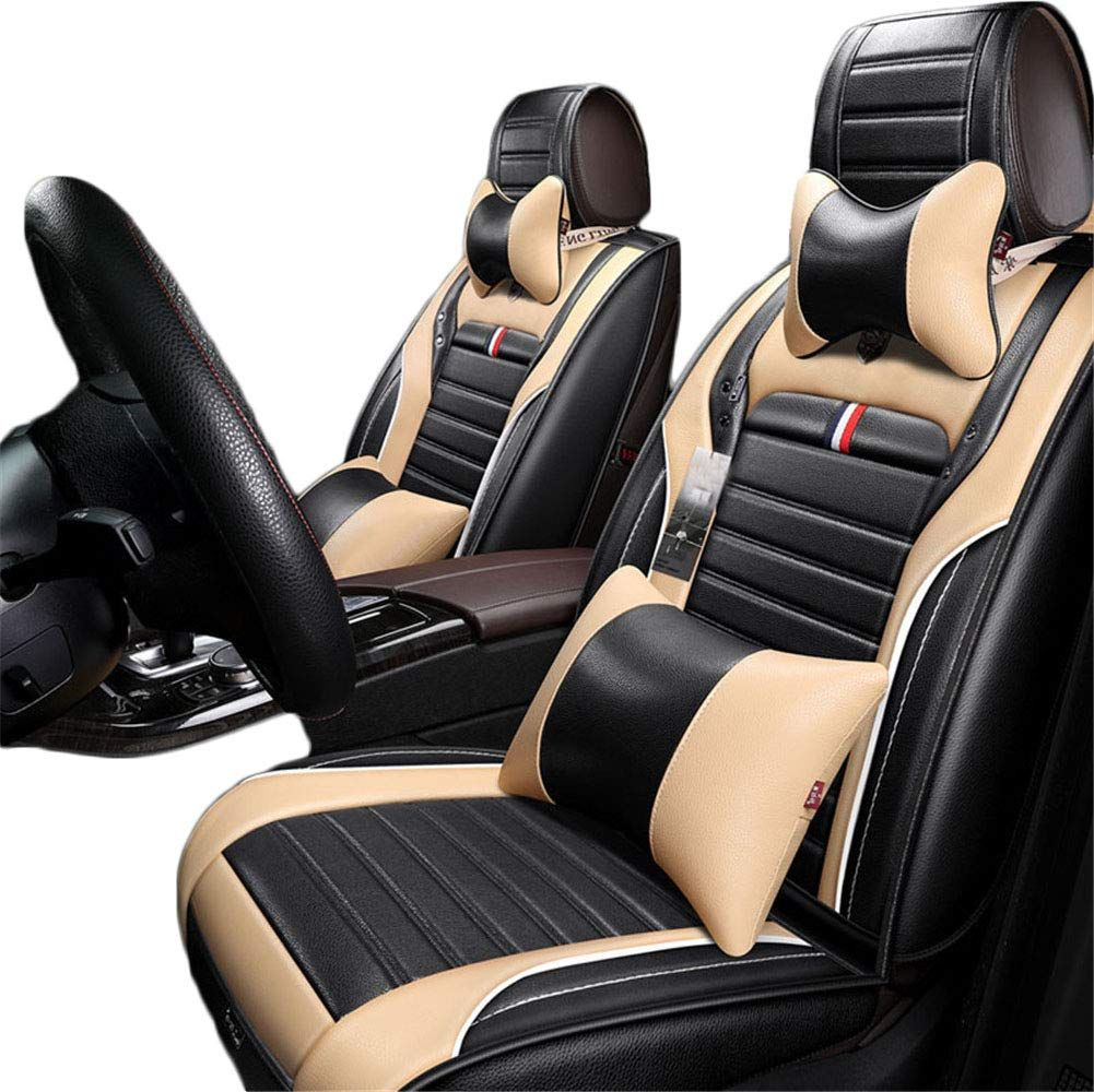 Grace Road Luxury Microfiber Leather Car Seat Cover Set Universal Car Seat Cushion Cover Waterproof Cover Leather Car Seat Covers Car Seat Cover Sets Car Seats