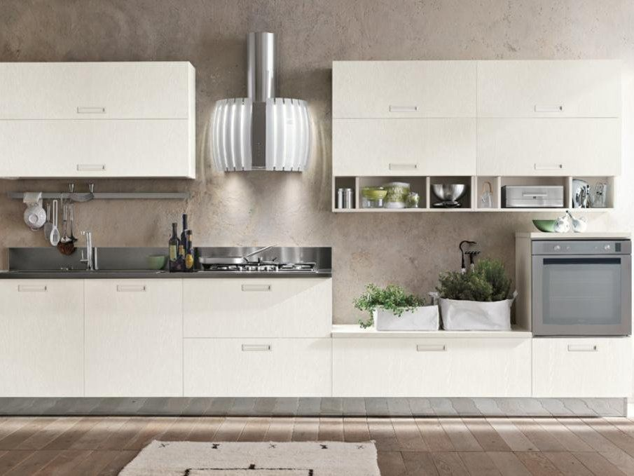 WOODEN KITCHEN WITH ISLAND MILLY LOOK SYSTEM COLLECTION BY ...