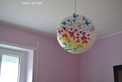 Lampadario Di Carta Velina : Tanika di idee: come decorare un lampadario di carta casa