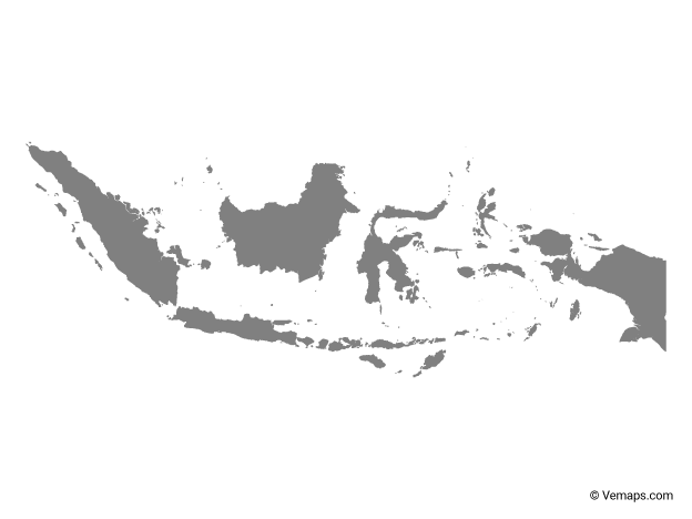 Grey Map Of Indonesia Free Vector Maps Map Vector Map Ship Tattoo