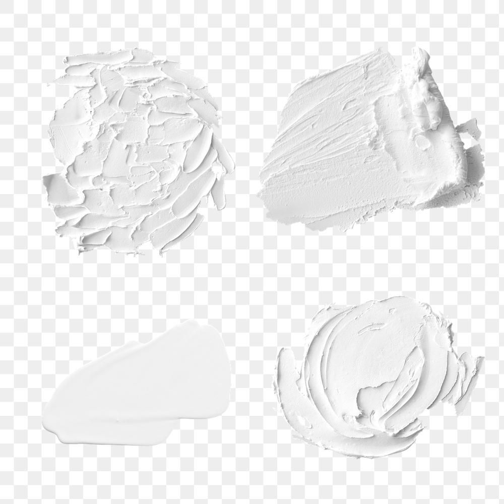 White Acrylic Paint Stroke Design Element Set Free Image By Rawpixel Com Cuz Gallery In 2021 White Acrylic Paint Paint Strokes Painting