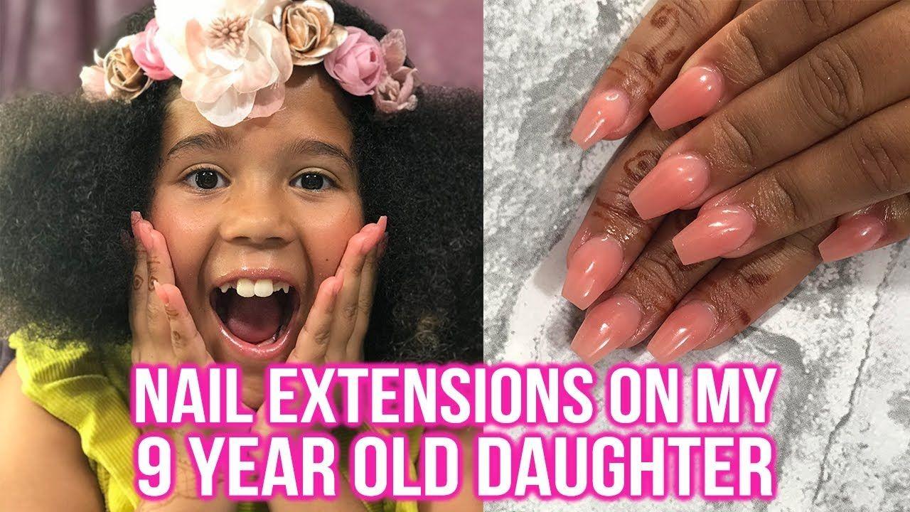 Nail Extensions On My 9 Year Old Nail Extensions Simple Nail Art Designs Diy Acrylic Nails