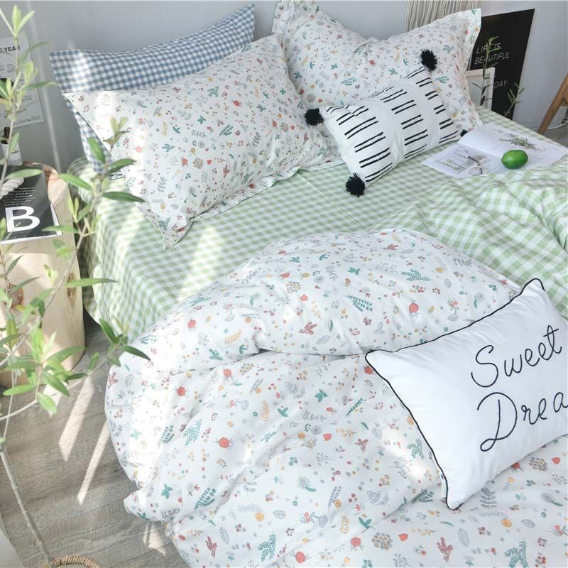 Rural Fresh Bedding Set Little Flower Pattern Bedclothes
