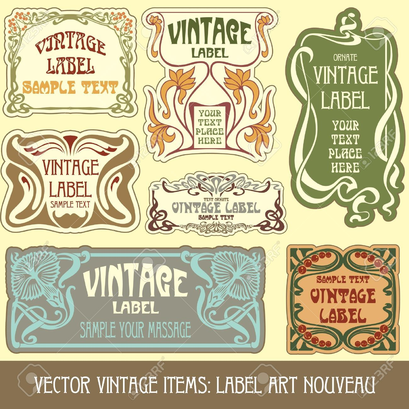 art nouveau labels typography pinterest tatouage art. Black Bedroom Furniture Sets. Home Design Ideas