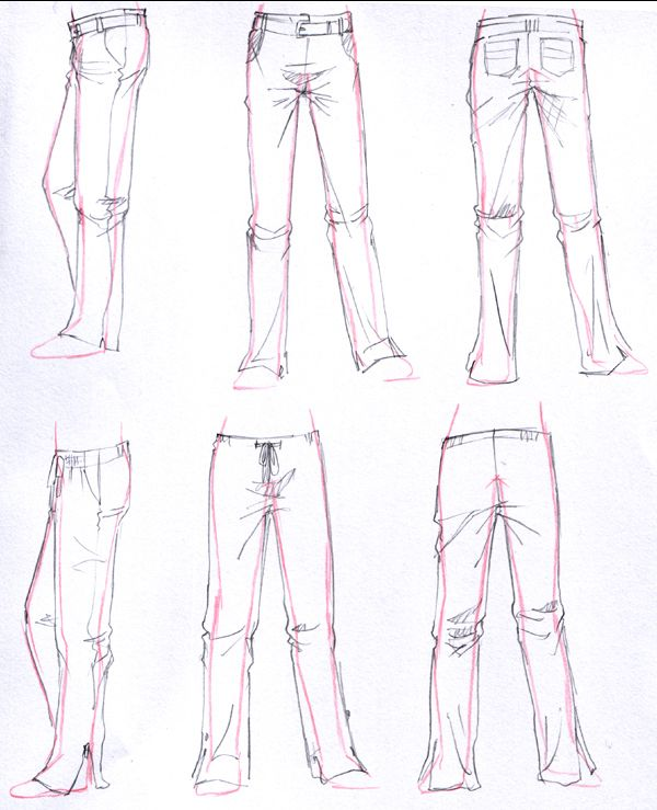 Ropa-Pantalón-Anime. | bhg | Pinterest | Ropa, Bocetos y Dibujo